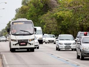 Trânsito em Maceió (Foto: Jonathan Lins/G1)