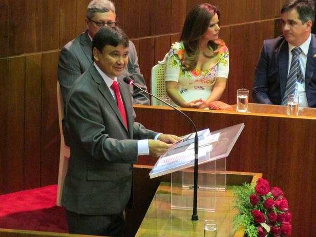 Wellington Dias toma posse como governador do Piauí (Foto: Catarina Costa/G1)