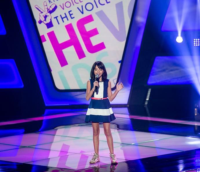 Iris Pereira canta 'Felicidade' na Audição do The Voice Kids (Foto: Isabella Pinheiro/Gshow)