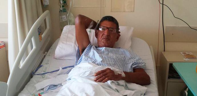 caio grêmio campeão do mundo 1983 cirurgia (Foto: Arquivo Pessoal)