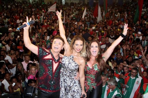 David Brazil, Valesca Popozuda e Susana Vieira (Foto: Rodrigo dos Anjos / AgNews)