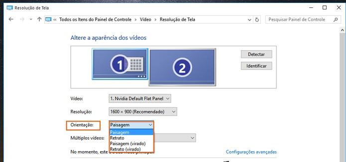 Selecione o posicionamento da imagem no segundo monitor (Foto: Reprodução/Barbara Mannara)