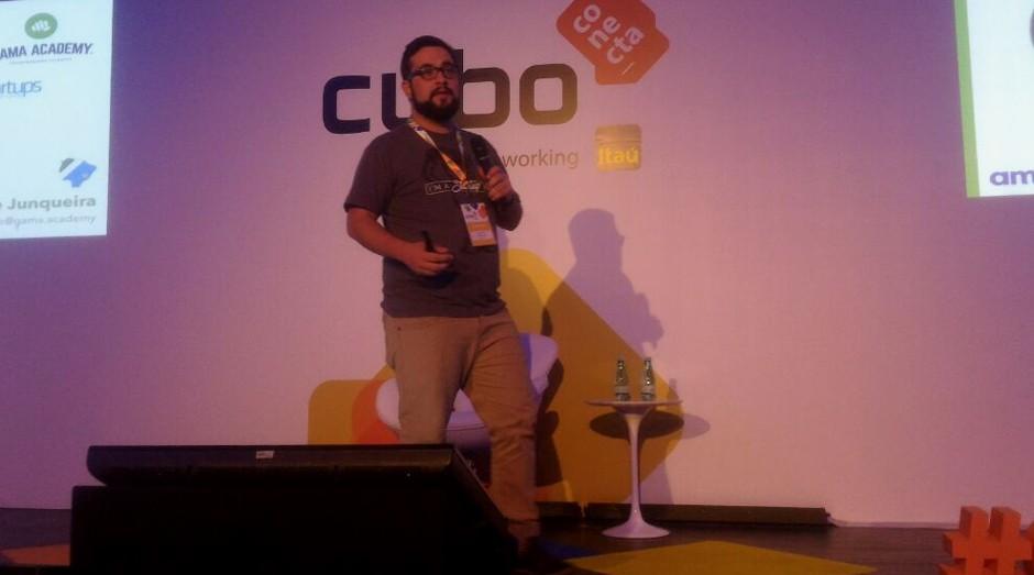 Guilherme Junqueira, da Gama Academy, participou do Cubo Conecta (Foto: Divulgação)