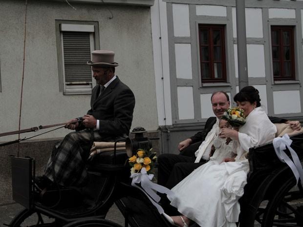 Foto tirada na Alemanha pelo mexicano Gabriel Tarriba, que vai de Londres a Pequim de bicicleta (Foto: Arquivo pessoal)