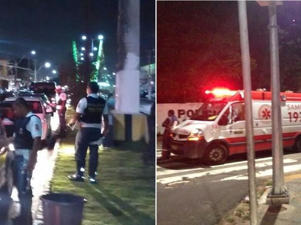 Barreira de fiscalização da Operação Lei Seca foi montada na Avenida Prudente de Morais (Foto: Tenente da PM Styvenson Valentim/G1)