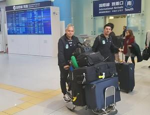 Reinaldo Rueda Atlético Nacional Mundial de Clubes desembarque Osaka (Foto: Jorge Natan)