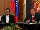 Mahmoud Ahmadinejad se encontra com Hugo Chávez e zomba dos EUA