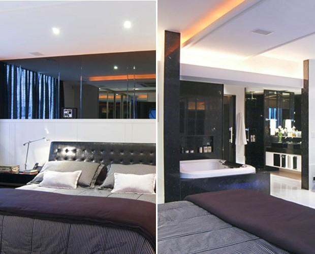 Banheira no quarto: cômodo ganha ares de sensualidade (Foto: Arquivo Pessoal)