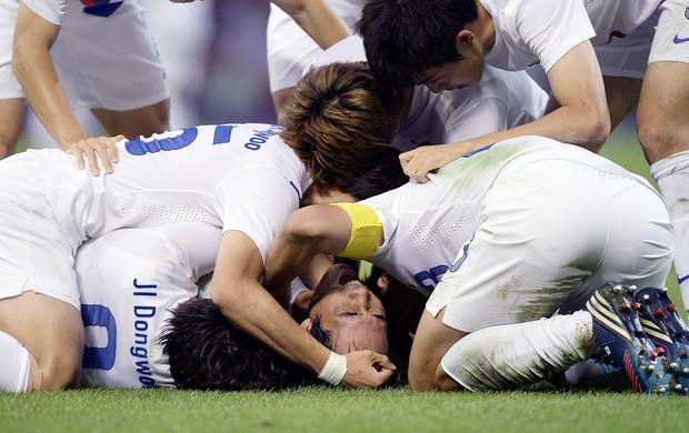 Park Chu-young, Comemoração, Coréia do Sul x Japão (Foto: Agência Reuters)