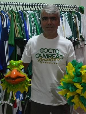 Periquito Mogi torcedor Palmeiras (Foto: Cairo Barros)