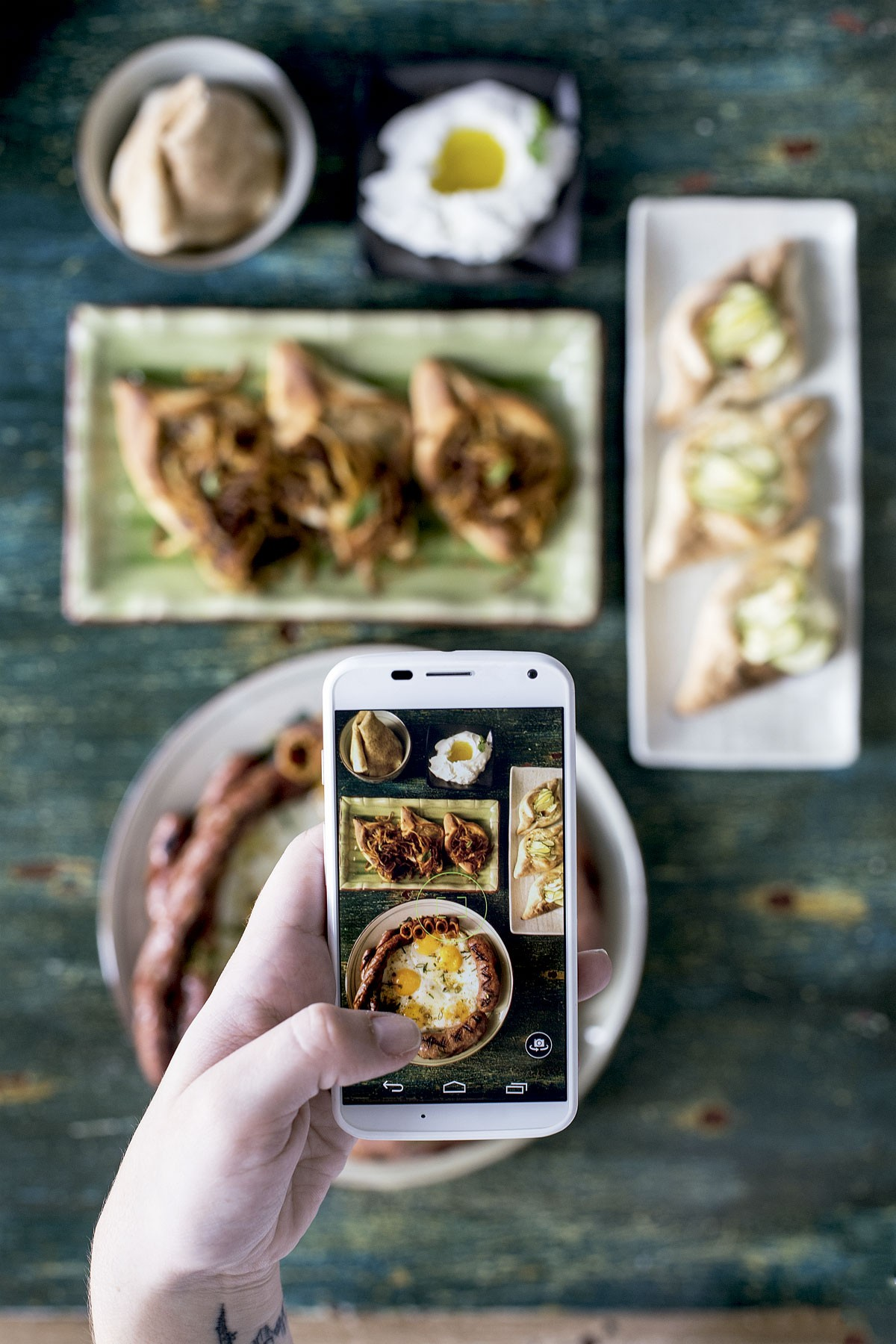 Comendo com os olhos: Linguiças e esfihas fizeram o restaurante Sainte Marie aumentar a clientela após fotos delas virarem hit no Instagram (Foto: Julia Rodrigues/Editora Globo)