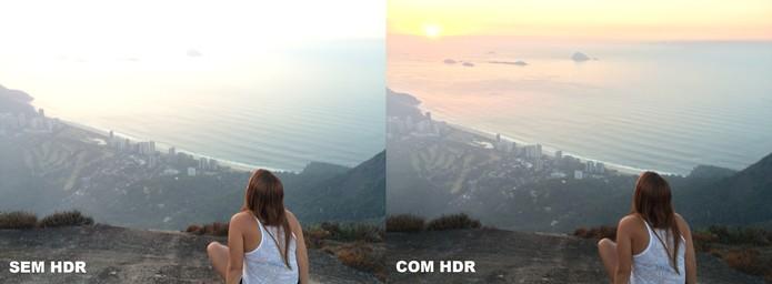 Comparativo de foto com e sem a função HDR (Foto: Juliana Pixinine/TechTudo)