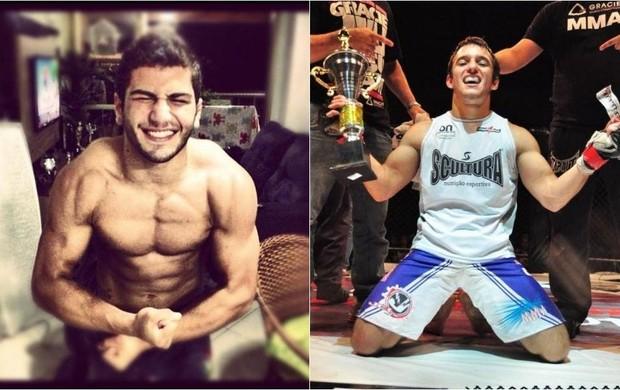 Gabriel Silva x Vinícius Baraldo (Foto: Montagem sobre fotos de Nas Grades e Instagram)