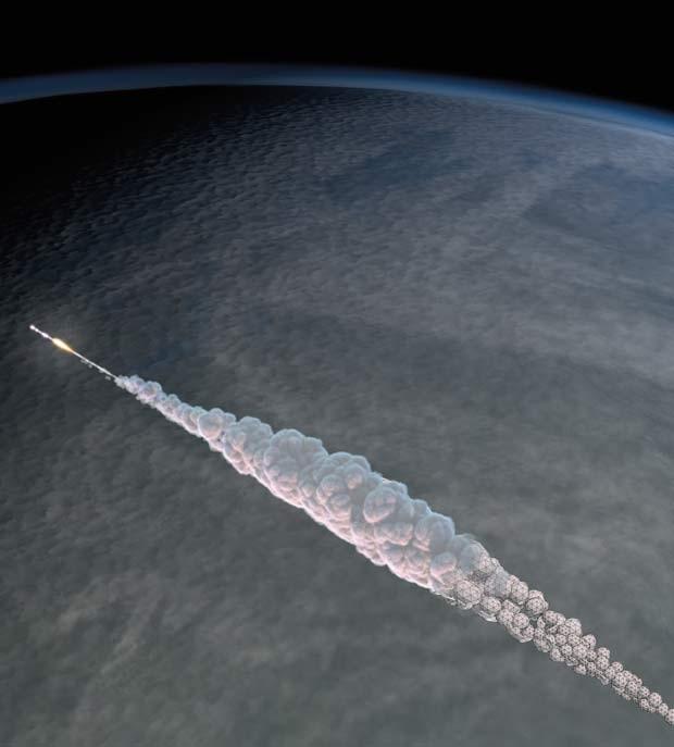 O meteorito Chelyabinsk estava a 19 km por segundo no momento em que atingiu a atmosfera (Foto:  Andrea Carvey, Mark Boslough & Brad Carvey)