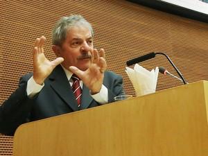 Lula discursa na abertura oficial do encontro de alto nível sobre segurança alimentar na África (Foto: Ricardo Stuckert/Instituto Lula)