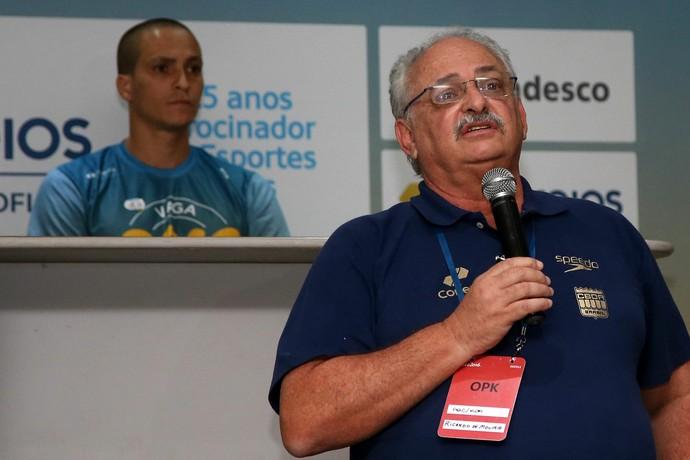 Apresentação da equipe de natação para o Rio 2016 - Ricardo de Moura CBDA (Foto: Satiro Sodré / SSPress)