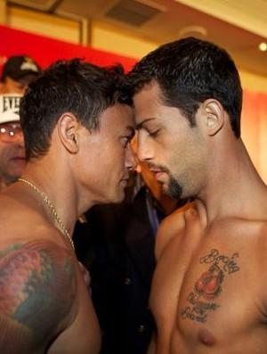 Popó x Michael Oliveira boxe pesagem (Foto: Reprodução/Facebook)