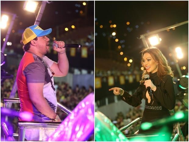 Xand e Solange em festa do 'Aviões Elétrico' (Foto: Divulgação)