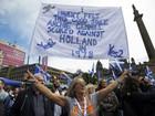 Manifestantes pedem novo referendo sobre independência da Escócia