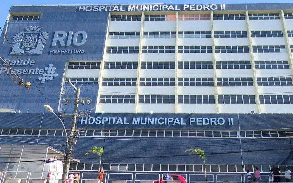 Hospital Municipal Pedro II é uma das unidades que teve dinheiro desviado, de acordo com a denúncia (Foto: Reprodução / Tv Globo)