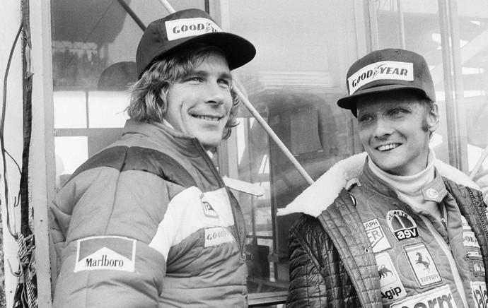 James Hunt e Niki Lauda GP do Japao 1976 (Foto: AP Images)
