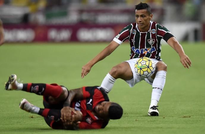 Cícero e Marinho Fluminense x Vitória (Foto: André Durão)