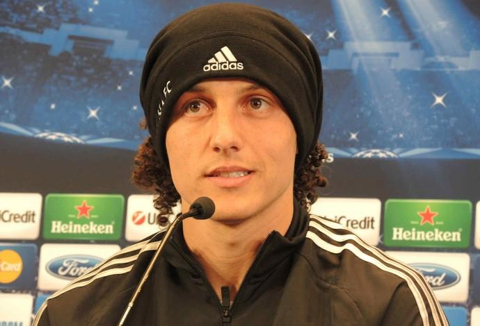 David Luiz Coletiva Chelsea (Foto: Cassio Barco)
