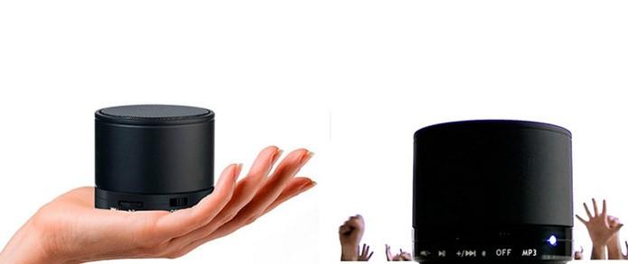 Mini caixa de som tem design compacto (Foto: Divulgação/Wi)