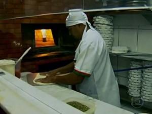 Pizzaiolo SPTV (Foto: Reprodução/TV Globo)