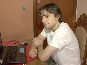Caio Azeredo superou o vício em internet. (Foto: Wendel Valadão / TV Gazeta)