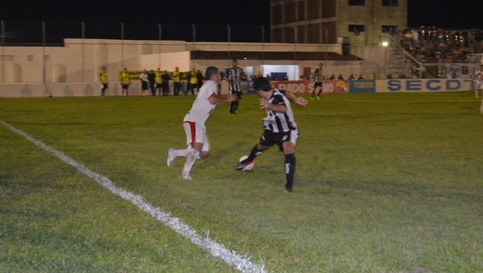 Santa Cruz-PB x Treze, pelo Paraibano (Foto: Juliana Bandeira / GloboEsporte.com/pb)