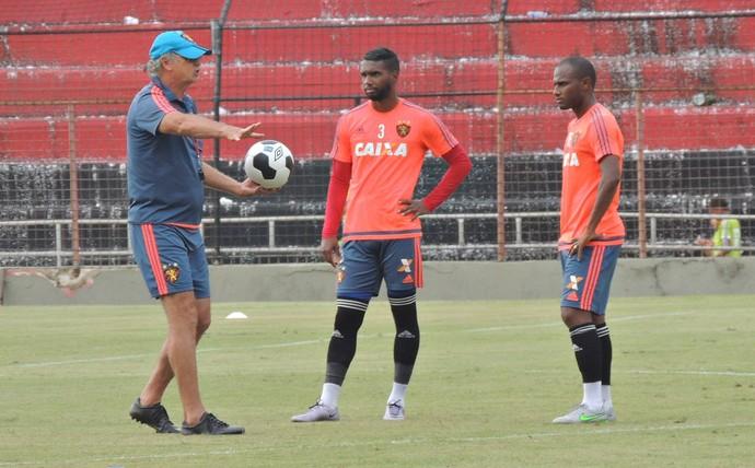 Falcão Luiz Antônio Ronaldo Sport (Foto: Lucas Liausu)