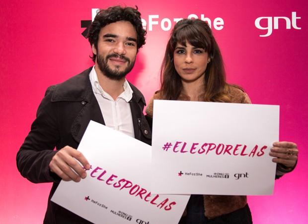O casal no evento que marcou o lanamento da campanha no Brasil. (Foto: Felipe Costa)