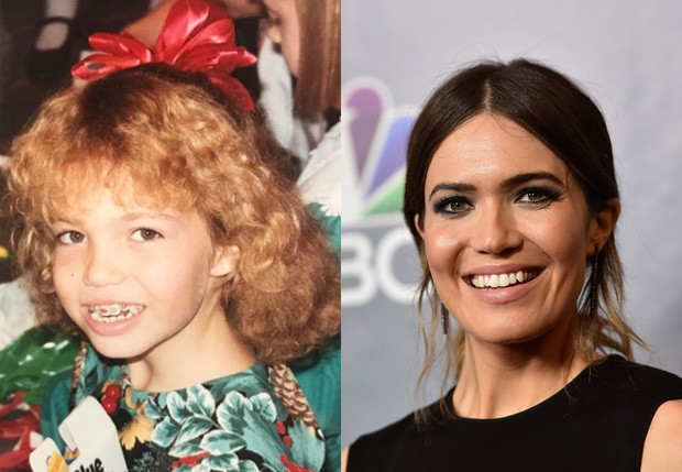 Mandy Moore aos 10 anos e atualmente (Foto: Reprodução/Instagram e Getty Images)
