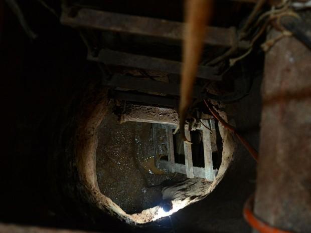 Túnel já tinha mais de 50 metros até o presídio, diz a polícia (Foto: Rodrigo Ziebell/SSP/Divulgação)