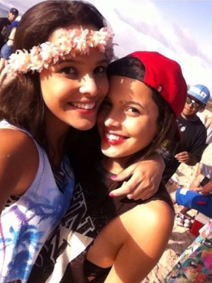 Emilly e Mayla curtiram a folia em Santa Catarina (Foto: Arquivo pessoal)