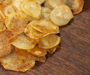 Chips de batata no forno