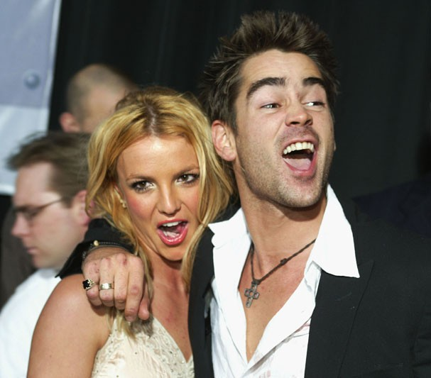 Britney Spears e Colin Farrell em 2003 (Foto: Getty Images)
