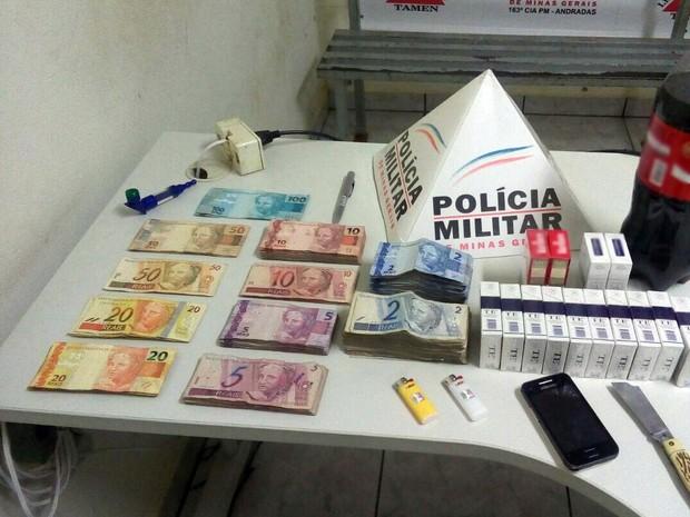 Polícia prende suspeito de furtar escola em Andradas, MG (Foto: Polícia Militar)