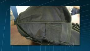PM baleado no peito no Alemão, Rio, usava colete; estado de saúde é grave (Foto: Reprodução/TV Globo)