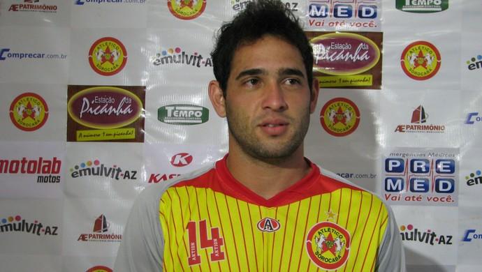 Marcus Vinicius - atacante - Atlético Sorocaba (Foto: Rafaela Gonçalves / GLOBOESPORTE.COM)