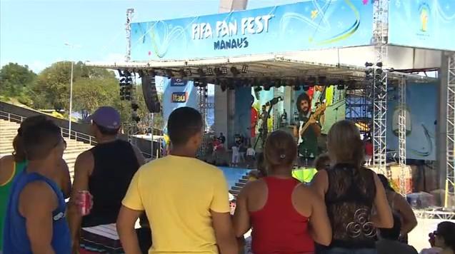 Clima de festa marca o Fifa Fan Fest, em Manaus (Foto: Bom Dia Amazônia)