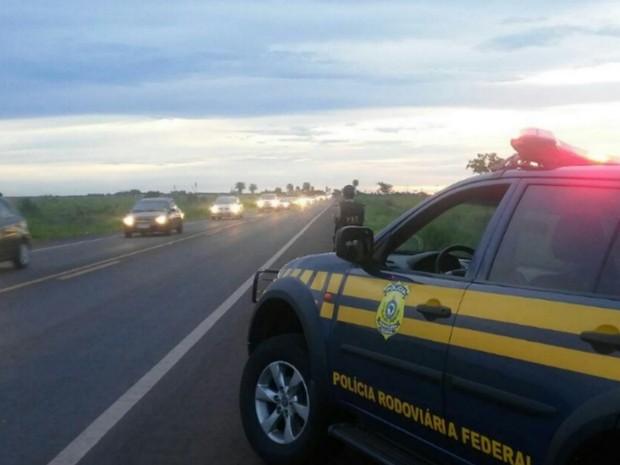 PRF registrou 7 mortes e 35 feridos em acidentes nas rodovias de MS (Foto: PRF/ Divulgação)