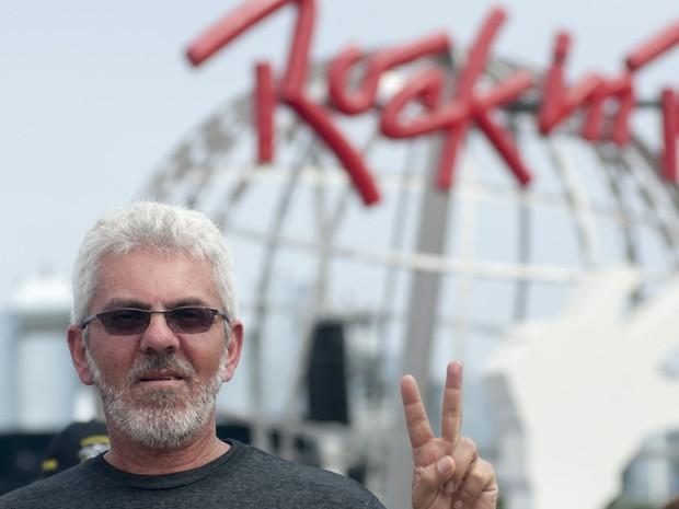 Para ver Rod Stewart e Elton John, a Cidade do Rock recebe muitos fãs grisalhos (Foto: Luciano Oliveira/G1)