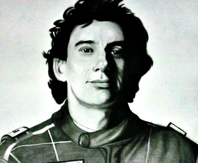 Ayrton Senna Luis Paulo Inspiração Mistura com Rodaika  (Foto: Divulgação/Luis Paulo)