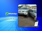 Jovem foge da polícia com veículo furtado e bate em quatro carros
