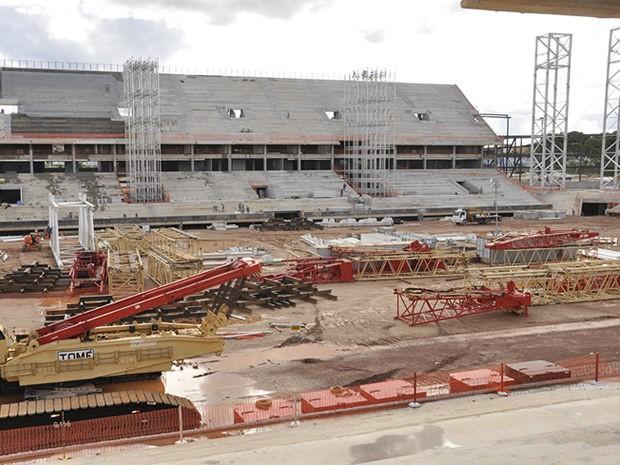 Previsão da Secopa é de que a Arena Pantanal seja comcluída e entregue no mês de outubro. (Foto: Robson BoaMorte/GE MT)