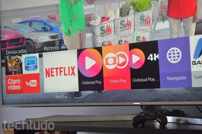 Samsung TV com sistema Tizen (Foto: Melissa Cruz/TechTudo)