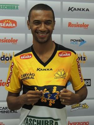 Gualberto Criciúma zagueiro (Foto: João Lucas Cardoso)