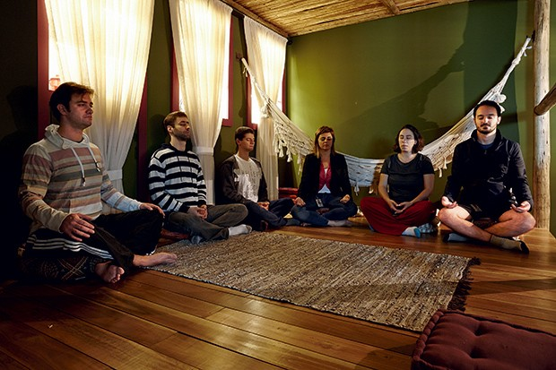 A sala de meditação do Google reúne até 15 praticantes por sessão (Foto: Arthur Nobre)
